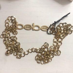 Bebe gold belt